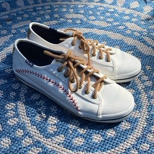 Keds white baseball shoes sneakers 6.5